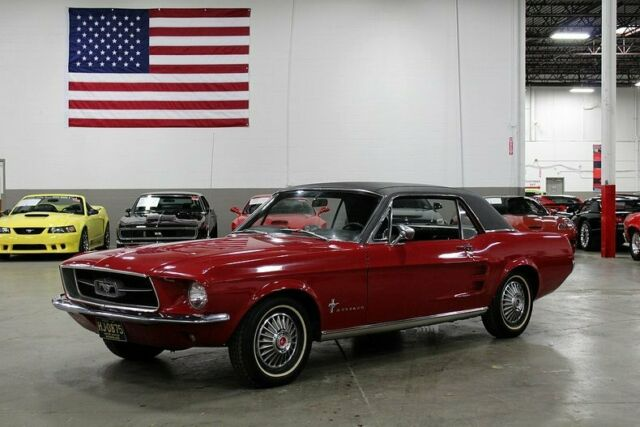 Red 1967 Mustang Coupe