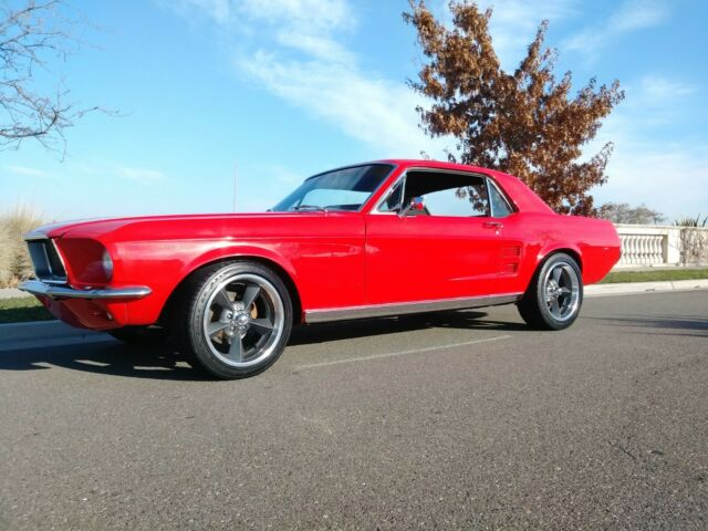 Red 1967 Ford Mustang Coupe