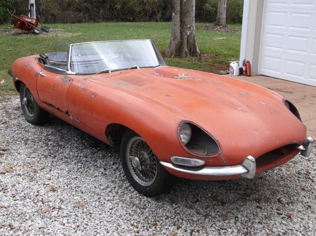 1967 jaguar xke 4 2 e type series 1 roadster ots barn find. Black Bedroom Furniture Sets. Home Design Ideas