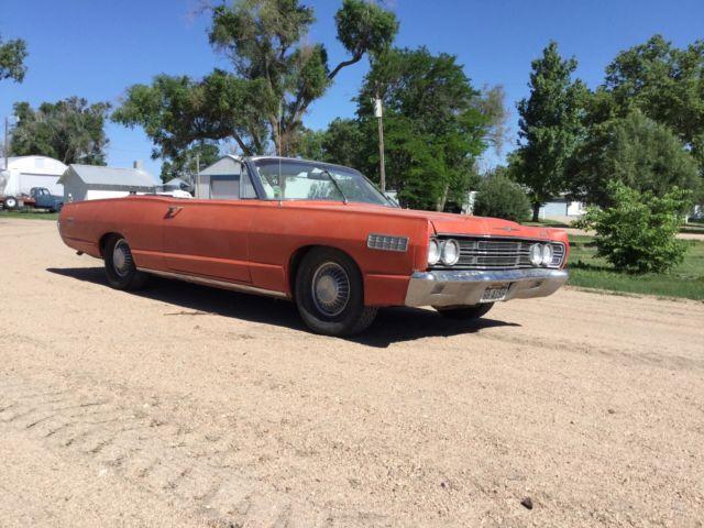 1967 Mercury Monterey Convertible Actual Original Red Car From Arizona 390 V8 Classic