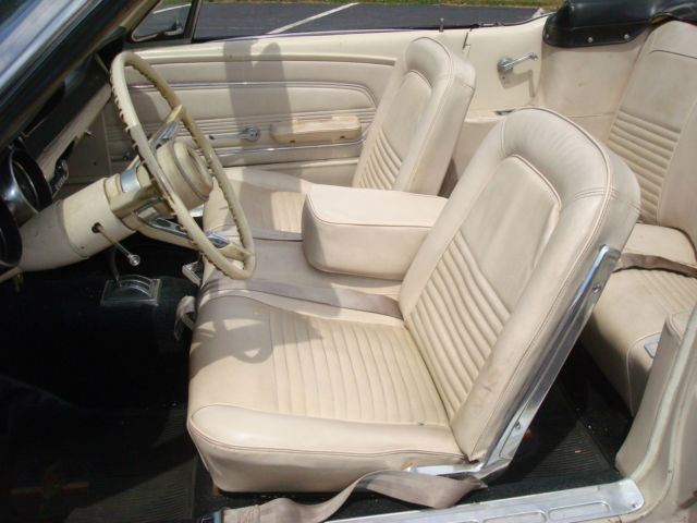 1967 mustang convertible 289 pebble beige parchment interior solid car new top classic ford. Black Bedroom Furniture Sets. Home Design Ideas