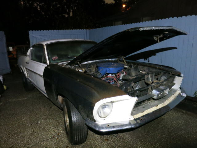 1967 Ford Mustang Fastback Project Car For Sale: 1967 Mustang Fastback 7T02C210399 Project Car
