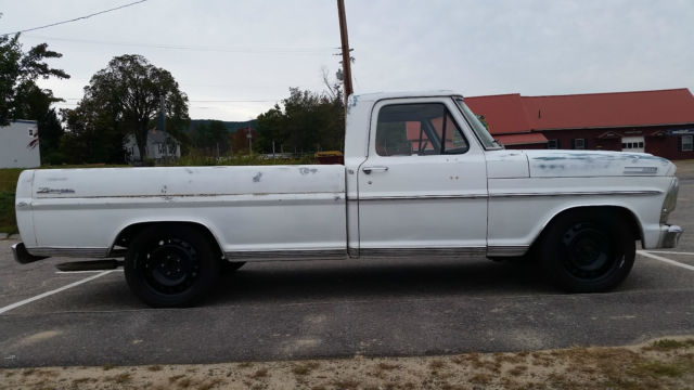 1967 ranger long bed lowered on 20 u0026quot  steelies