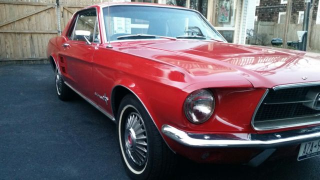 1967 Red Mustang Coupe Pics