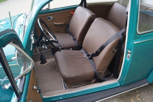 1967 Vw Bug >> 1967 Volkswagen Sunroof Beetle - Java Green Cal Look BRM - VW Empi Radio - Classic Volkswagen ...