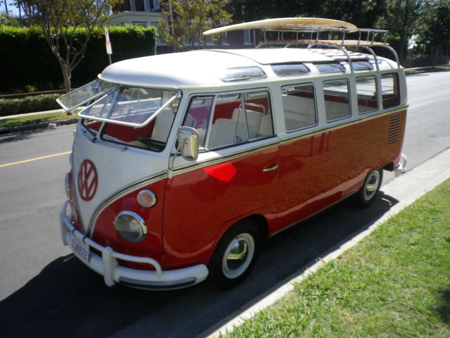 1967 Vw Bus Rare 21 Window Walk Thru Samba Bus Rag Top