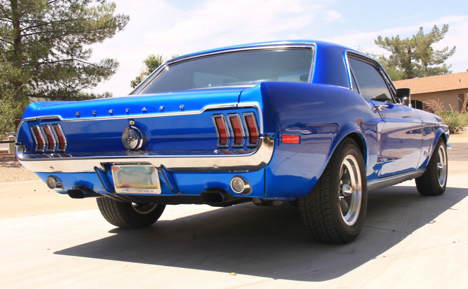 1968 68 ford mustang coupe 347 420hp blue custom hot rod classic ford mustang 1968 for sale. Black Bedroom Furniture Sets. Home Design Ideas