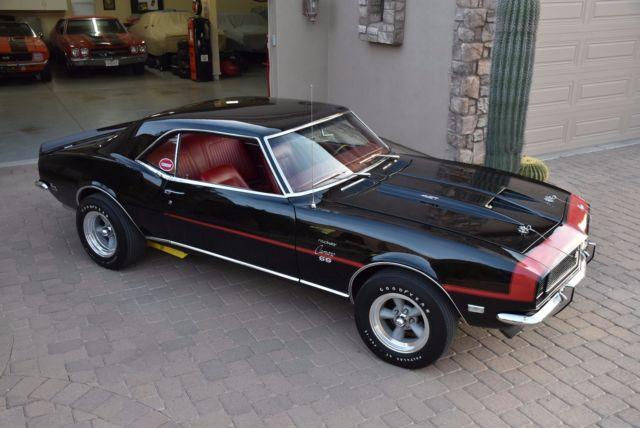 1968 Camaro Rs Ss 427 Vintage Super Car 4spd 12bolt Tuxedo Black Felix Chev Sold Classic