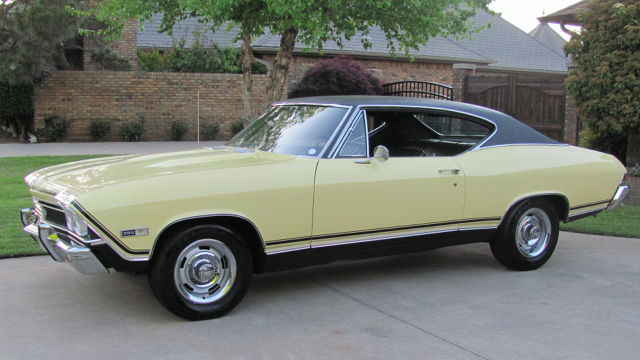 1968 Chevelle Ss 396 4 Speed Butternut Yellow Black