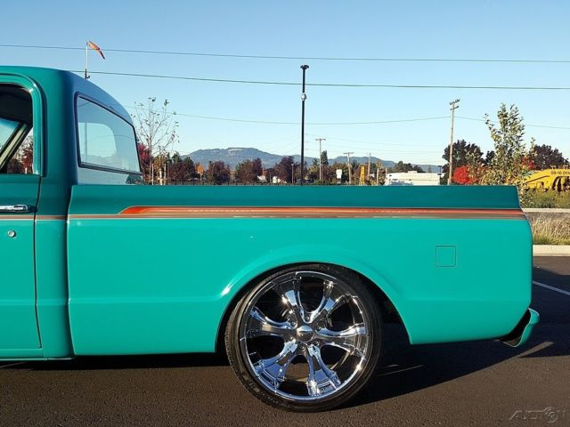 1968 Chevrolet C10 Pickup Two Tone Teal W Graphics Gray