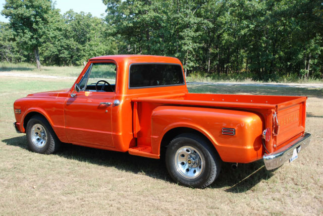 1968 Chevy C10 Stepside Candy Metallic Orange Sbc 350