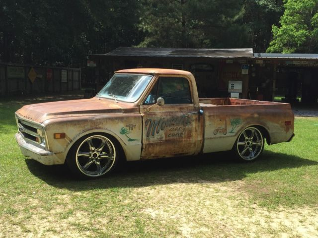 1968 Chevy C10 Swb Cool Patina Rat Hot Rod Lowered Cheap