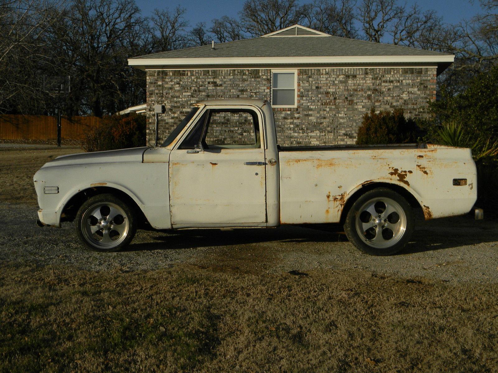 1968 Chevy C10 Swb Pickup Truck Project V8 A C Cab P S B 5 Lug 67 Pick Up Prevnext