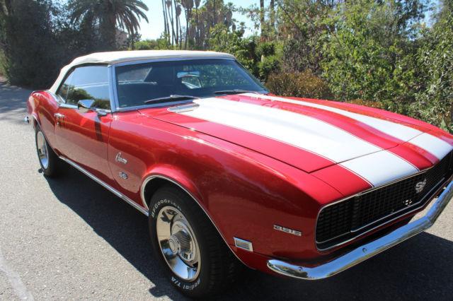 1967 Chevrolet Impala Red w/ Black Interior 327 V8 TH400 Automatic ...