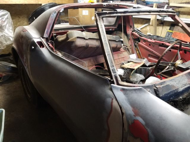1968 Chevy Corvette Project 1963 1964 1965 1966 1967 1969 1970 1971 1972 1973 - Classic