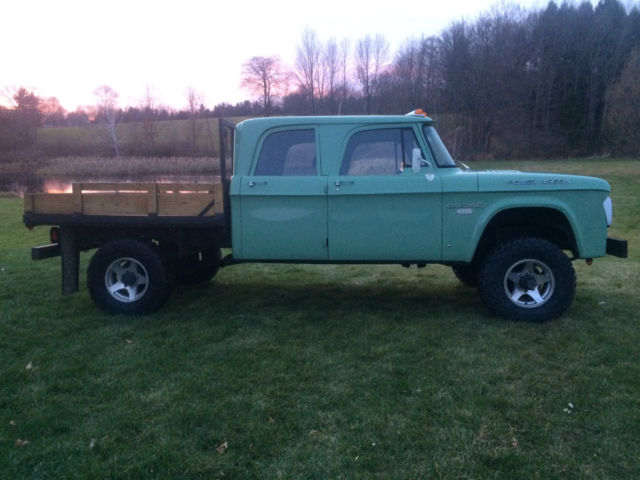 1968 Dodge Crew Cab Cummins 12v 4x4 Power Wagon W200 No