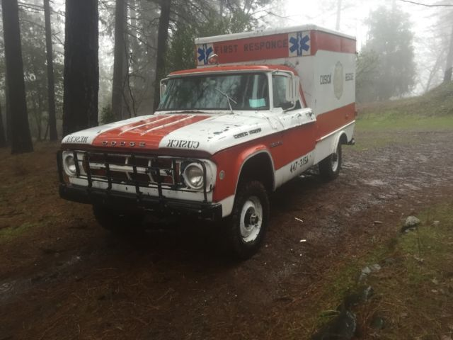 1968 Dodge Power Wagon Ambulance Classic Dodge Power