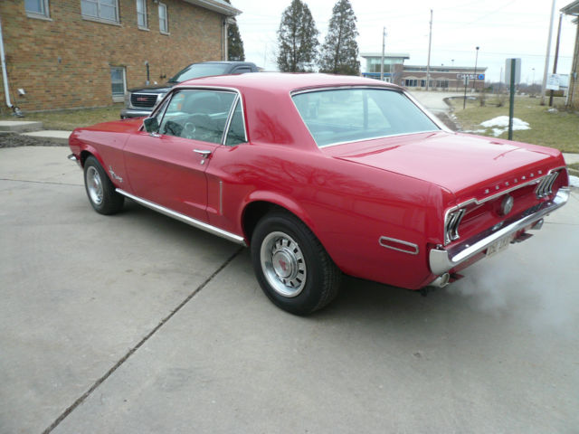 1968 Ford Mustang Coupe 289 4 V 3 Speed Automatic
