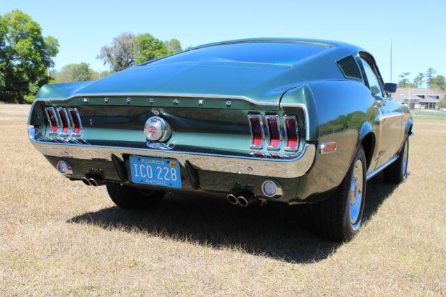 1968 Ford Mustang Gt Fastback 302 Original Bullitt Green