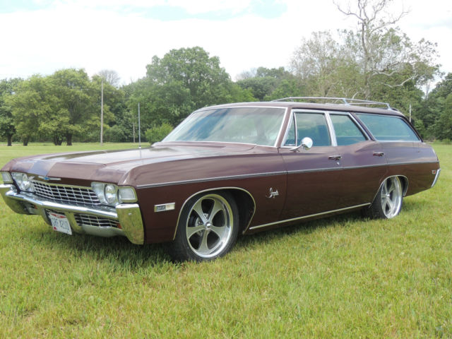 1968 impala station wagon 6 passenger chevy chevrolet patina hot rod classic. Black Bedroom Furniture Sets. Home Design Ideas