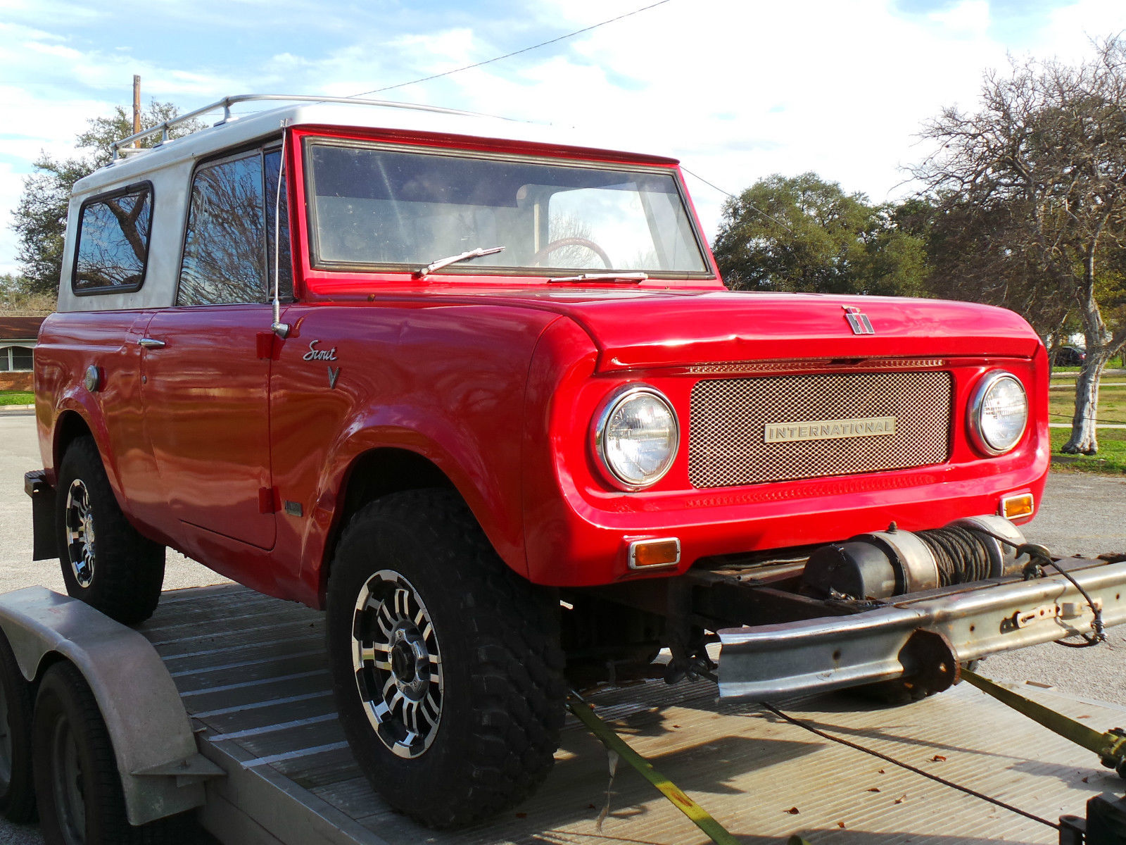 International Harvester Scout : International scout factory v with winch and