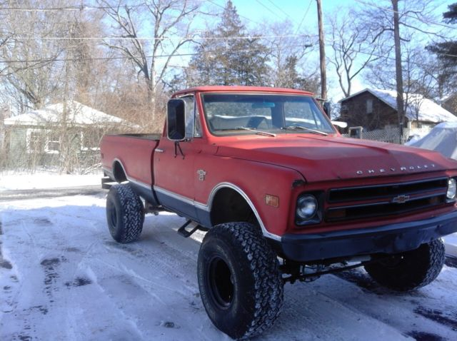 1968 k20 truck 4x4 on 1980 frame 1970 cab and title NO ...