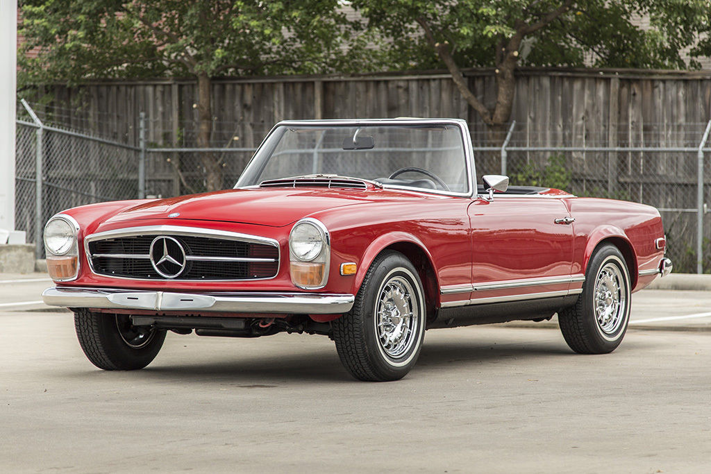 1968 mercedes benz 250sl roadster convertible signal red