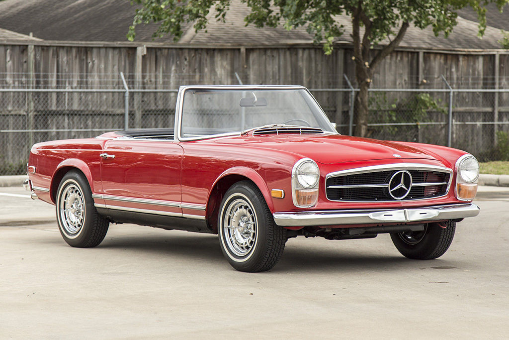 1968 mercedes benz 250sl roadster convertible signal red black manual 250 sl classic mercedes. Black Bedroom Furniture Sets. Home Design Ideas