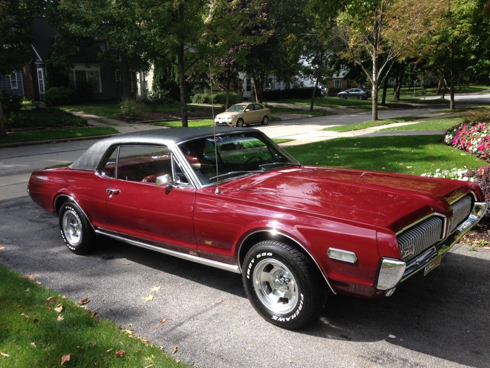 1968 mercury cougar 302 maroon automatic excellent condition show and go classic mercury. Black Bedroom Furniture Sets. Home Design Ideas