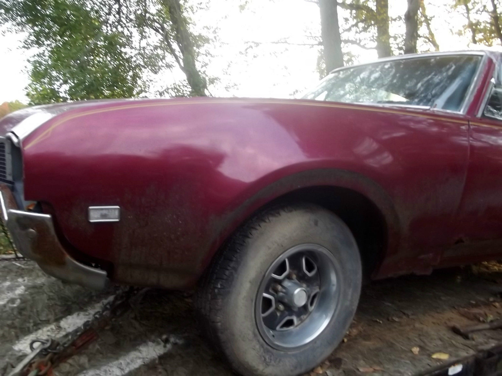 1968 olds cutlass 442 real 442 restore project black