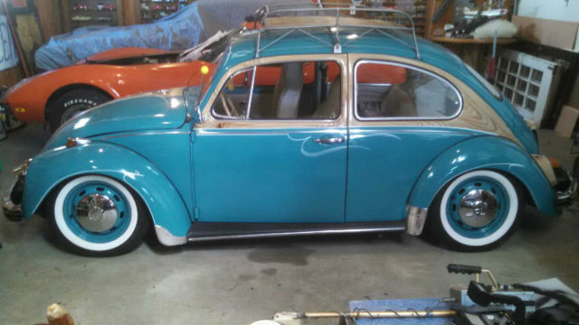 1968 Vw Beetle Custom Auto Stick Rare Professionally Lowered