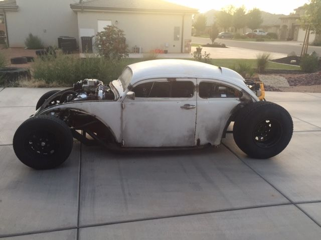 1968 VW Rat Rod Volksrod tube chassis 383 twin turbo hot ...