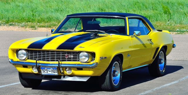 1969 302 Z28 Daytona Yellow With Black Sport Stripes W M22 Rockcrusher 4 Spd Classic