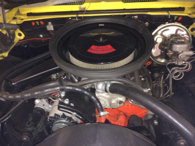 1969 302 Z28 Daytona Yellow With Black Sport Stripes W