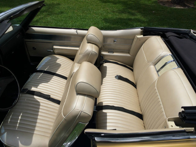 1969 Buick Wildcat Convertible Restored Antique Gold Off White Leather Interior Classic Buick