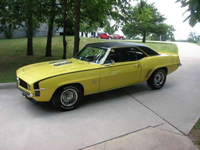 1969 Camaro Rs Ss 396 X22 Norwood Original 396 350 Hp Engine And Build Sheet Classic