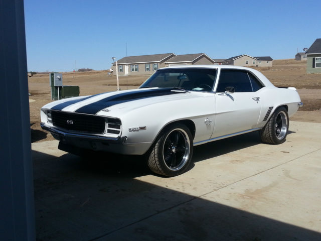 1969 Camaro Rs Ss White Black Stripes 2 Door Classic