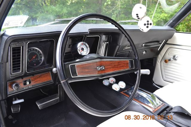 1969 Camaro Ss 350 Auto Ps Pb Gauges Solid Beautiful Tuxedo