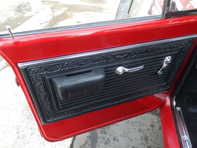 1969 Chevrolet C10 Candy Red 350 Rally Wheels Cowl Hood