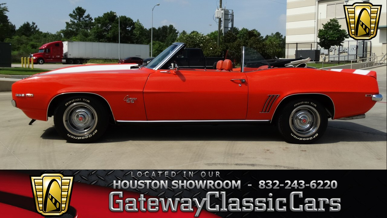 1969 chevrolet camaro rs ss 82056 miles orange convertible 396 cid v8 4 speed ma classic. Black Bedroom Furniture Sets. Home Design Ideas