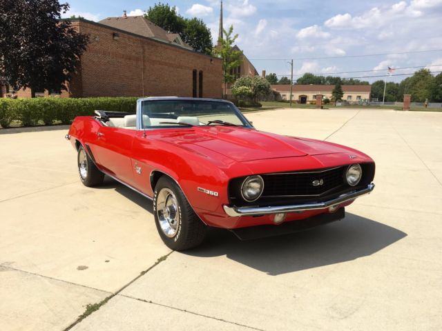 1969 chevrolet camaro ss convertible power top power steering power brakes classic. Black Bedroom Furniture Sets. Home Design Ideas