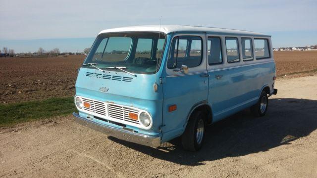 1969 Chevrolet G10 Van Sportvan 15 Window Panel van G20 64 ...