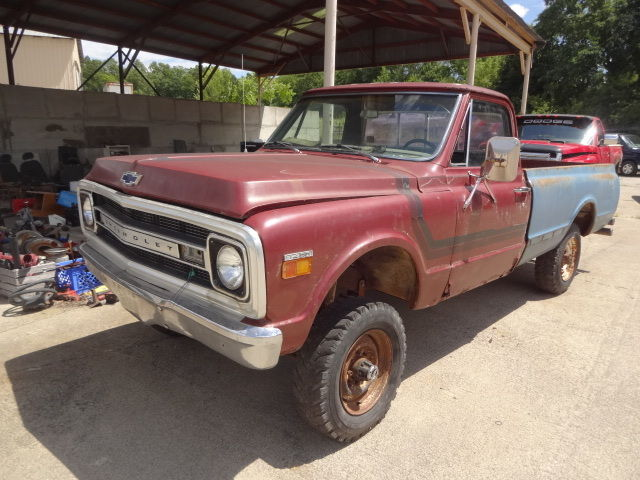 1969 chevy truck 3 4 ton 4x4 rolling chassis parts or project classic chevrolet c 10 1969 for sale. Black Bedroom Furniture Sets. Home Design Ideas