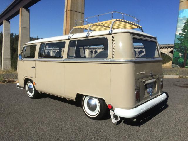 deluxe original savanna beige paint classic volkswagen busvanagon   sale