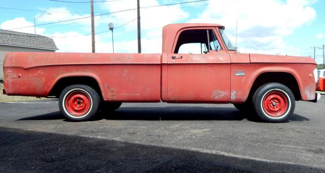 1969 dodge d100 red long wheel base classic pickup truck classic dodge other pickups 1969. Black Bedroom Furniture Sets. Home Design Ideas