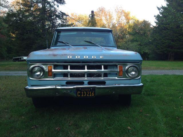 1969 Dodge D200 Sweptline 3 4 Ton Pickup Truck Classic