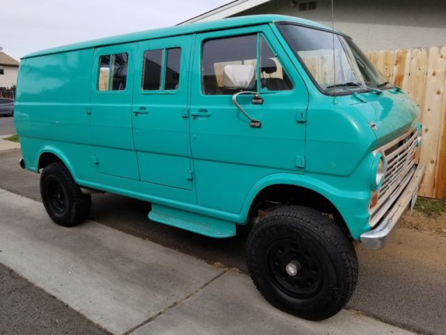 1969 ford 4x4 van v 8 auto ps p discs rare 4wd ready for your big adventures classic ford. Black Bedroom Furniture Sets. Home Design Ideas