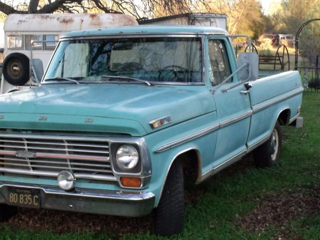 1969 Ford F100 Ranger Pickup Truck Long Bed Standard Cab