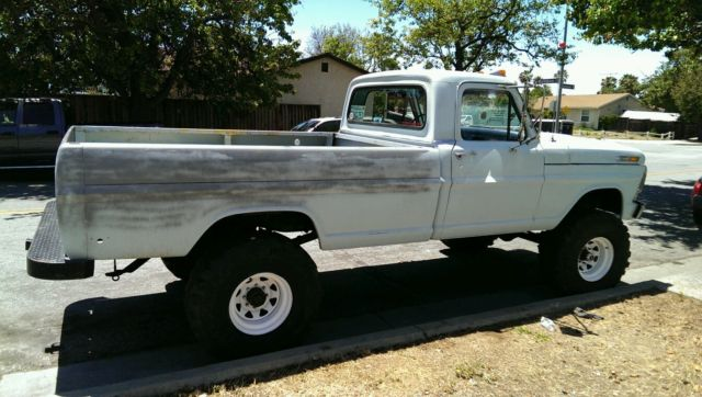 1969 FORD F250 HIGH BOY 390 4X4 4 SPEED LONG BED 69