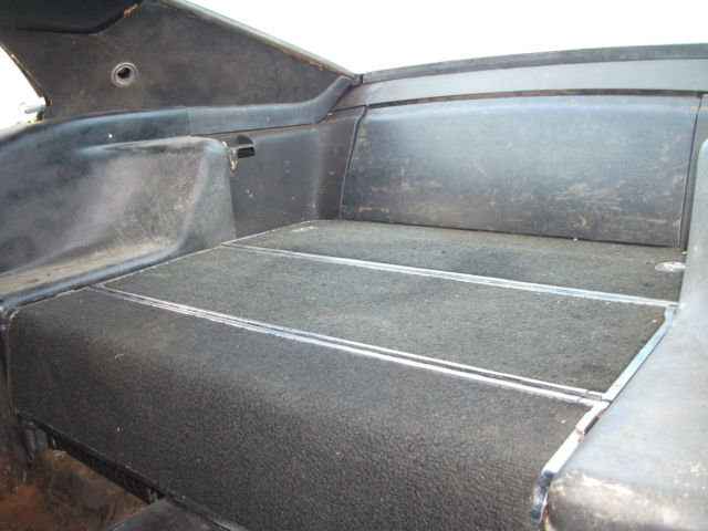 1969 Ford Mustang Fastback Raven Black Fold Down Rear Seat